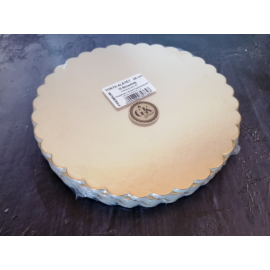 10 db arany színű hullámos szélű karton torta alátét 24 cm