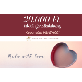 20.000 forintos ajándékutalvány - letölthető